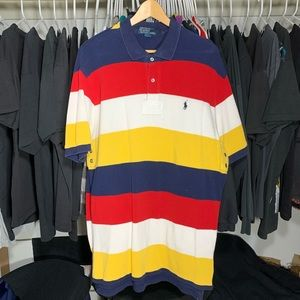 Vintage early 2000s Striped Polo button up Sz XL